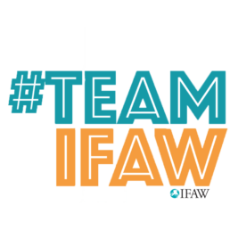 ifaw illustrated messaging sticker