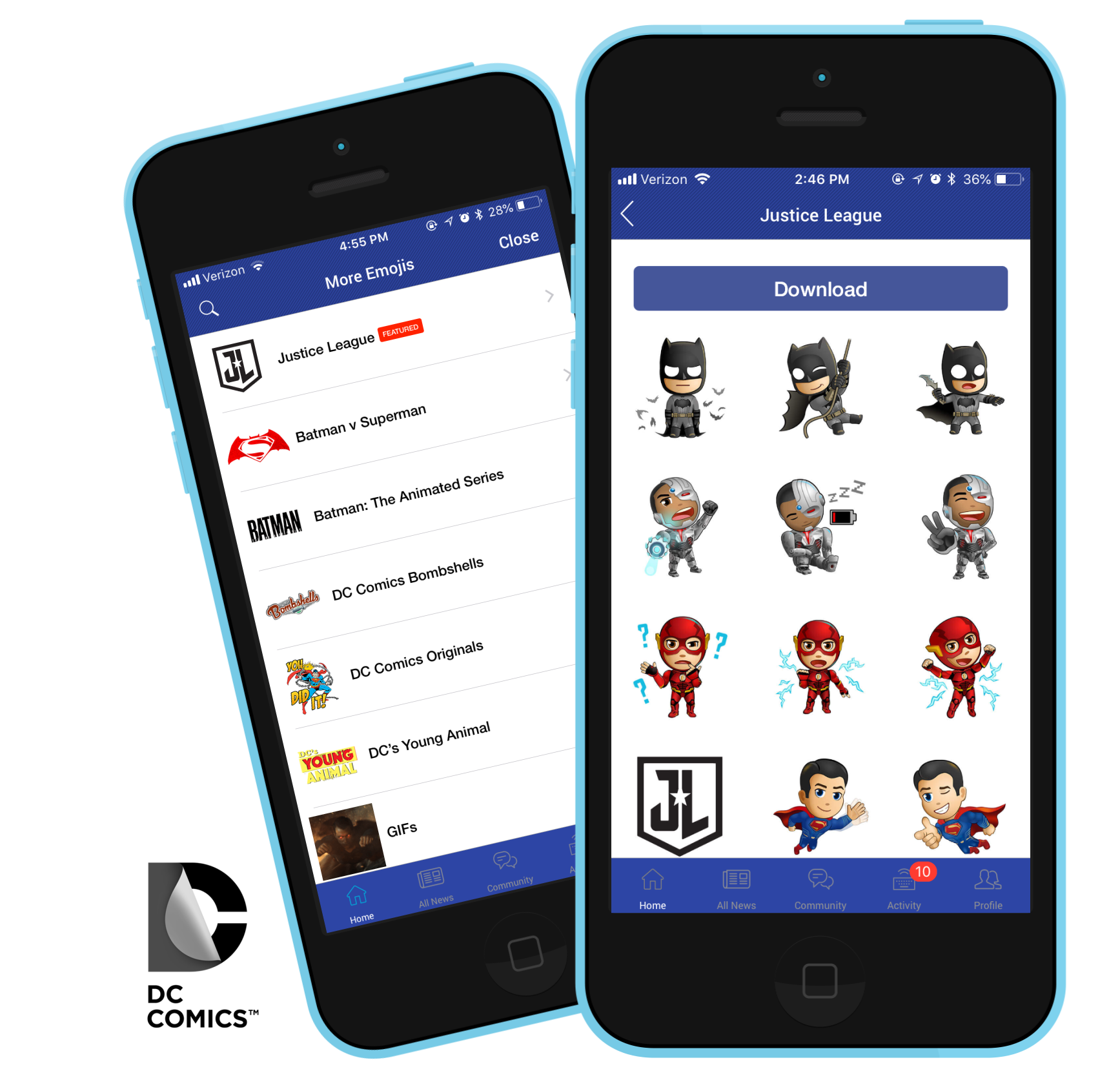 dc all access photo editing sticker sharing app