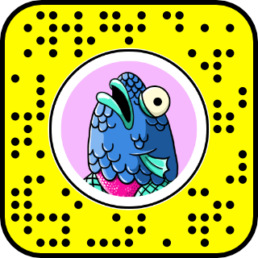 fishlegs snapchat snapcode for augmented reality lens effect