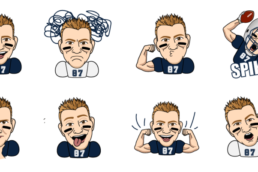 patriots gronk animated messaging sticker