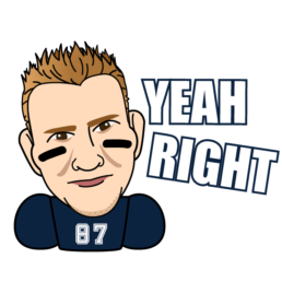 nfl gronk animated messaging sticker