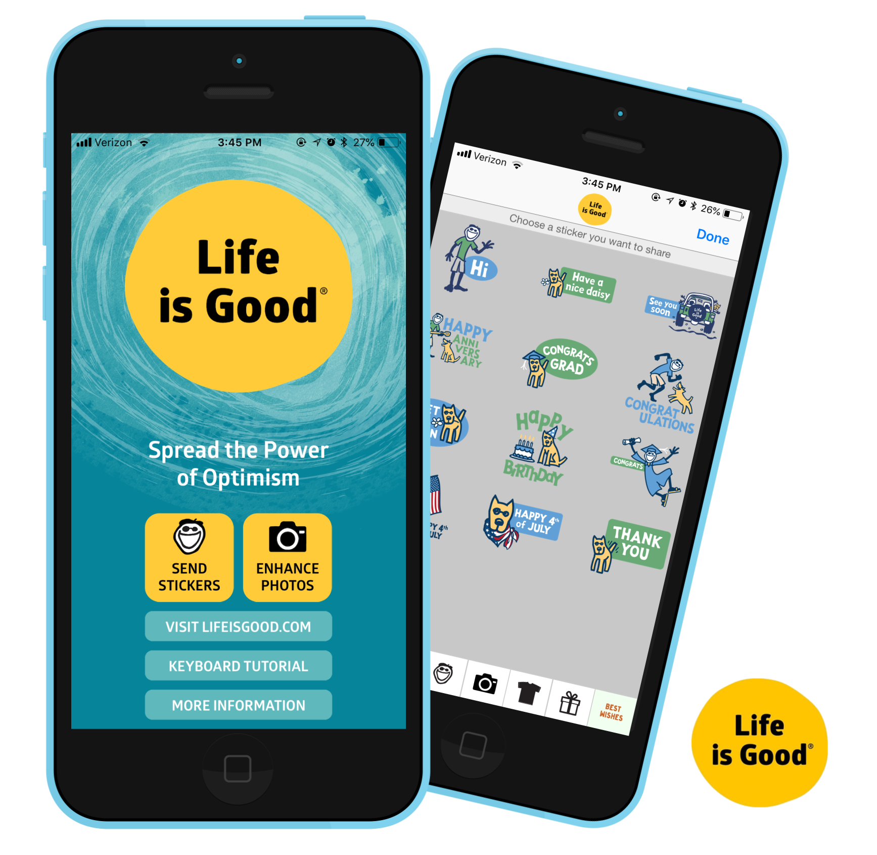 life is good photo editing sticker share app