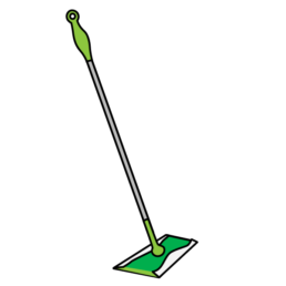 swiffer illustrated messaging sticker