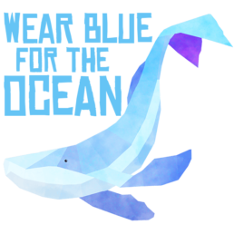 march for the ocean illustrated sticker