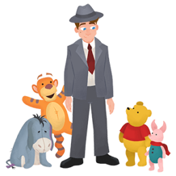 disney christopher robin group sticker