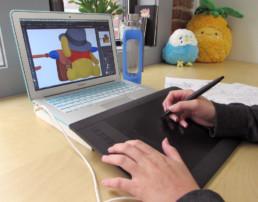Obi Little working on Christopher Robin Sticker