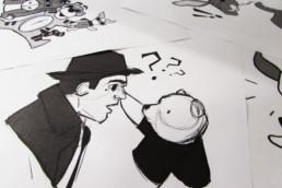 Christopher Robin Sticker Sketch