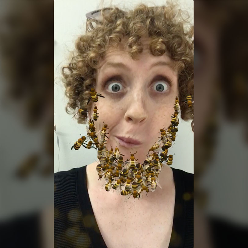 Bee Beard Snpachat Augmented Reality Lens Effect