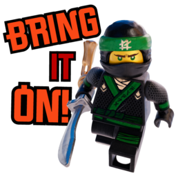 Warner Bros Ninjago Messaging Sticker