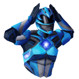 Blue Power Ranger Sticker