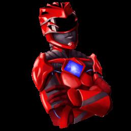 Red Power Ranger Sticker