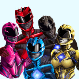 Power Rangers Group Sticker