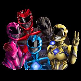 Power Rangers Group Sticker