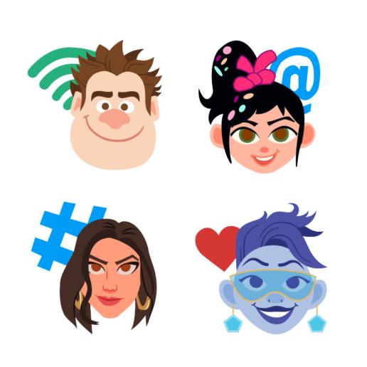 Ralph Breaks the Internet Twitter Emojis