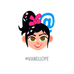 Ralph Breaks the Internet Vanellope Twitter Emoji
