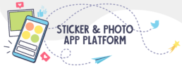 sticker and photo app platform header image
